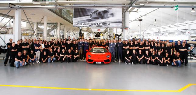1 000th Lamborghini Aventador LP 700-4