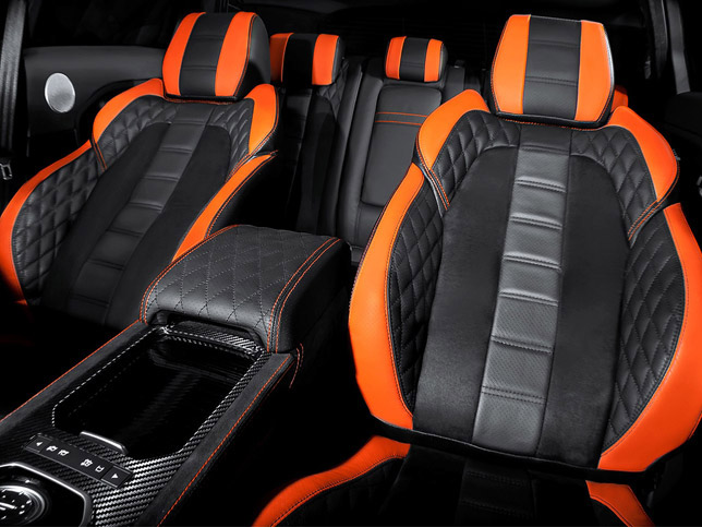 2012 Kahn Range Rover RS250 Vesuvius Copper Evoque Interior
