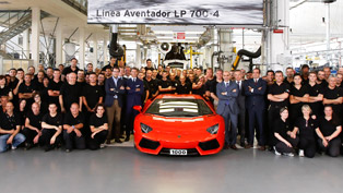1 000th Lamborghini Aventador LP 700-4 produced