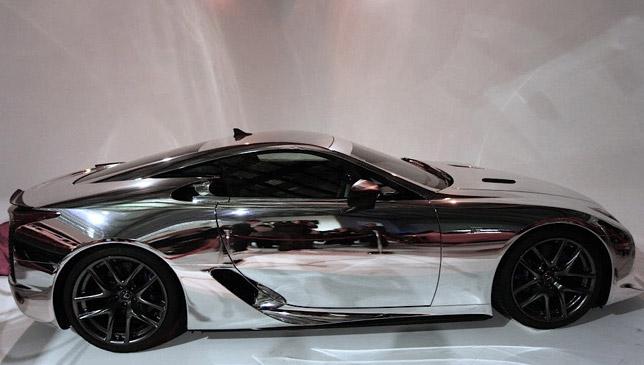 First Ever Chrome Lexus Lfa Debuts At Motorex