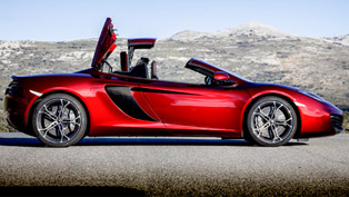 mclaren mp4-12c spider at the track [video]