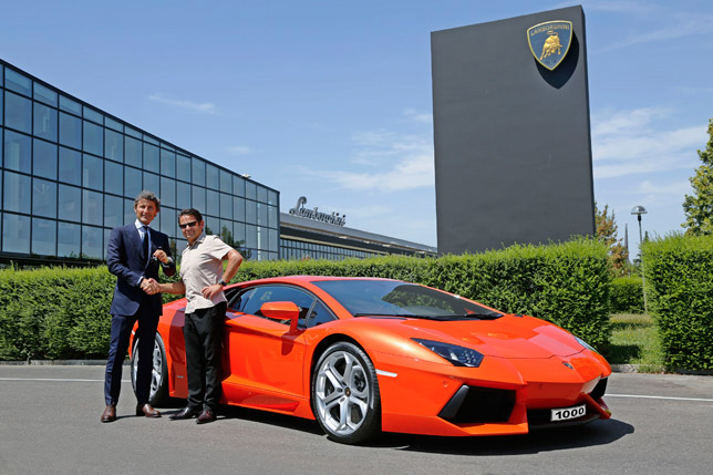 Hans Scheidecker and Automobili Lamborghini President and CEO Stephan Winkelmann