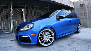 The Rising Blue HRE Volkswagen Golf R P44SC
