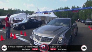 Chrysler 300C SRT-8 vs Cadillac CTS-V and BMW M6 ESS VT3 [HD video]
