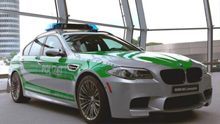 BMW F10 M5 Police Car exhibited in Munich