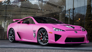 Lexus LFA Goes Pink in Support of Brest Cancer Awareness