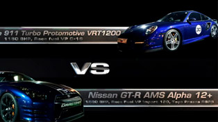 Porsche 9ff GT3 RS vs 911 Turbo Protomotive 1200 vs Nissan GT-R AMS Alpha 12+ [video]
