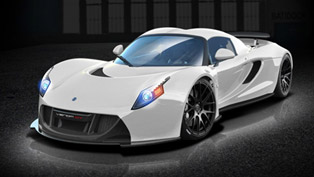 hennessey venom gt2 in arctic white delivers 1500 horsepower