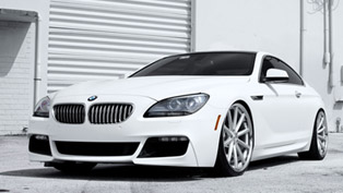 The White Warrior: SR Auto BMW 650i Vossen VVS-CV1