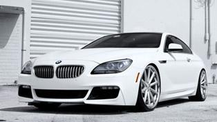 The White Warrior: SR Auto BMW 650i Vossen VVS-CV1
