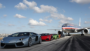 Lamborghini Aventador LP 700-4 Roadster at Miami Airport Runway