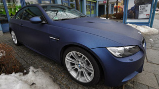 BMW E92 M3 in Saphir Metallic Matt PWF