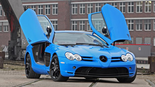 wrapping foil instead of paint coating: cut48 mercedes-benz mclaren slr