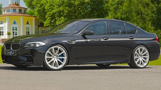 hartge bmw m5 f10 - 642hp and 810nm