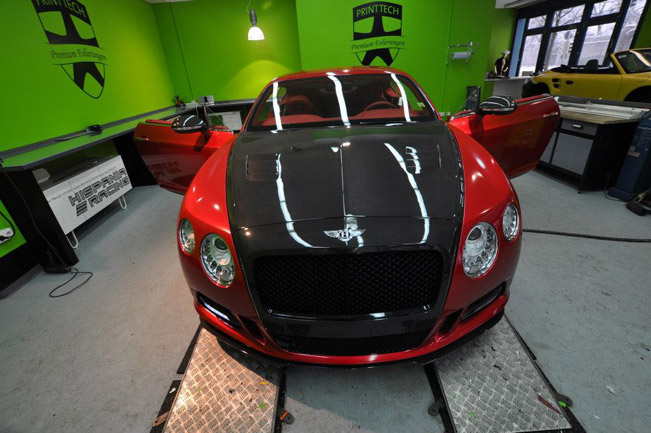 Exclusive Mansory Bentley Continental Gt In Candy Red By Print Tech