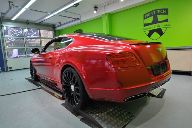 Mansory Bentley Continental Gt on Red Bentley Continental Gt