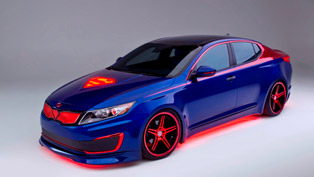 Kia Optima Hybrid Project Superman Shown in Chicago
