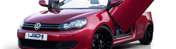 KW Volkswagen Golf VI Convertible Adds The Lambo-Effect with LSD-Doors