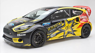 2013 Tanner Foust Ford Fiesta ST Rockstar Energy Drink Car Unveiled