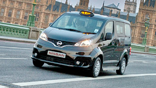 Nissan e-NV200 and NV200 London Taxi at the Commercial Vehicle Show