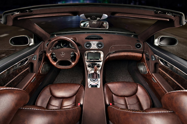 hot vilner enhances the interior of mercedes benz sl. Black Bedroom Furniture Sets. Home Design Ideas