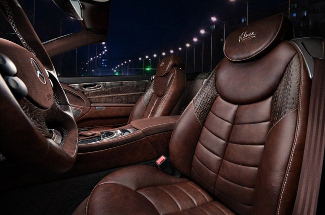 Hot vilner enhances the interior of mercedes benz sl for Mercedes vito interieur