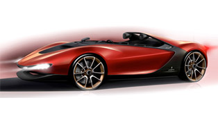 pininfarina unveils the two seater sergio