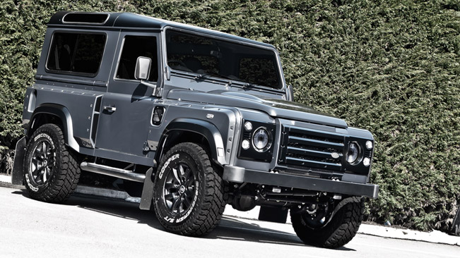 Kahn Land Rover Defender Chelsea Wide Track Military Grey