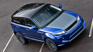 Royalty: Kahn Range Rover Evoque Imperial Blue RS250
