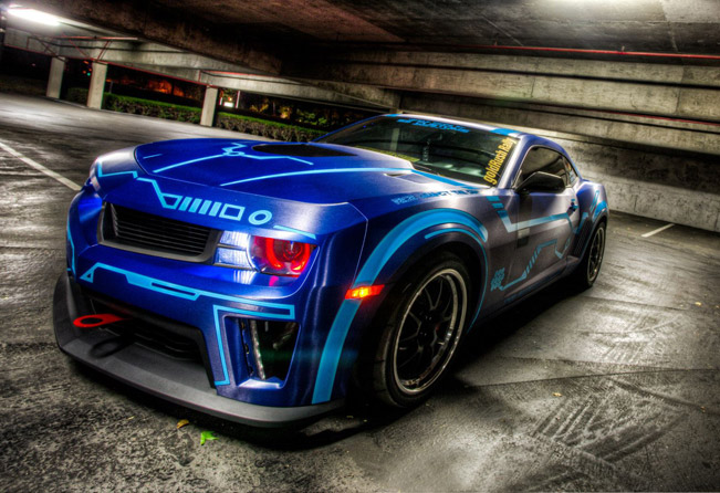 Ss Customs Chevrolet Camaro In A Tron Theme
