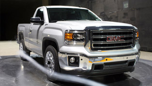 2014 gmc sierra pick-up with improved aerodynamics