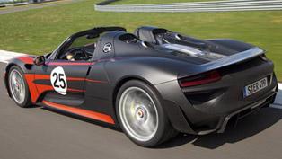 porsche 918 spyder - 887 hp and 800 nm