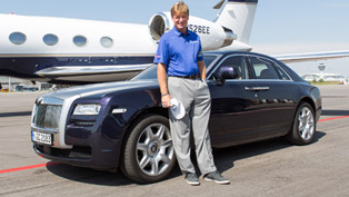 25th BMW International Open: Ernie Els and Rolls-Royce Ghost