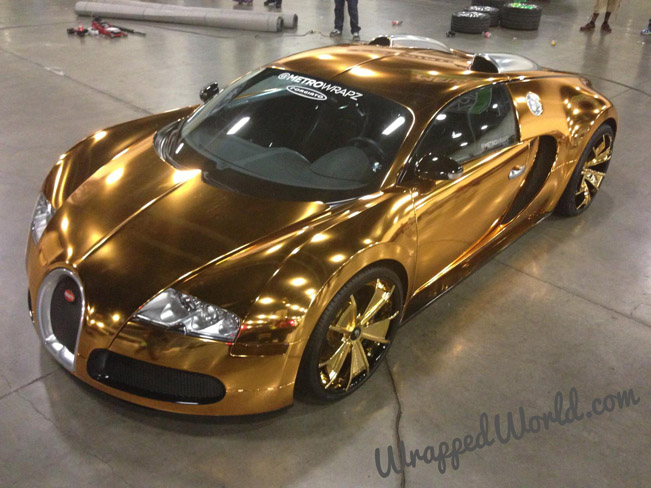 Gold Chrome Bugatti Veyron Owned By Flo Rida