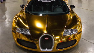 gold chrome bugatti veyron owned by flo-rida