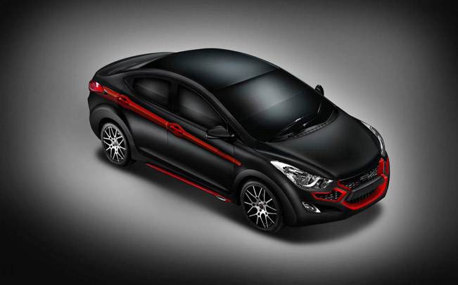 Dc Design Has Revealed Their Latest Project Based On The New Hyundai Elantra Car Comes With A Look Black Red Theme