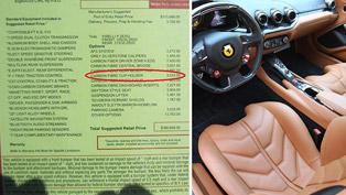 Ferrari F12 Berlinetta - Options List