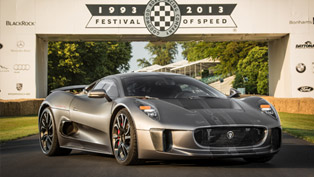 Jaguar C-X75 Makes Dynamic Debut At GoodWood
