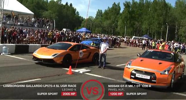 lamborghini gallardo ugr twin turbo 2005hp vs nissan juke