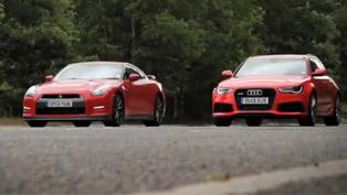 2013 Nissan GT-R vs 2013 Audi RS6 Avant [video]