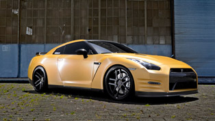 d2forged nissan gt-r in one-of-a-kind matte gold exterior