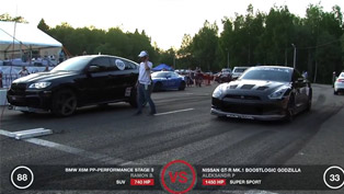 Nissan GT-R BoosLogic Godzilla vs GT-R Altechno, X6 M PP-Performance and GT-R GTT
