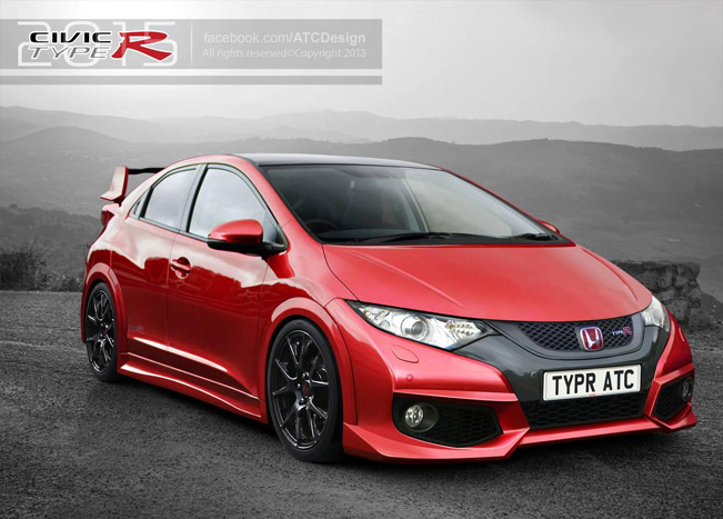 2015 honda civic type r render. Black Bedroom Furniture Sets. Home Design Ideas