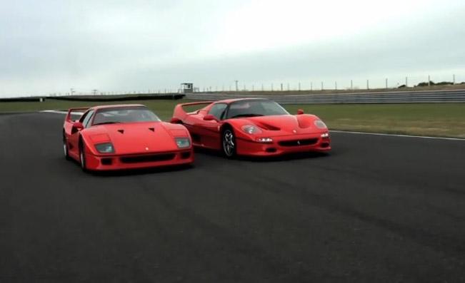 Ferrari F40 Vs F50 Video