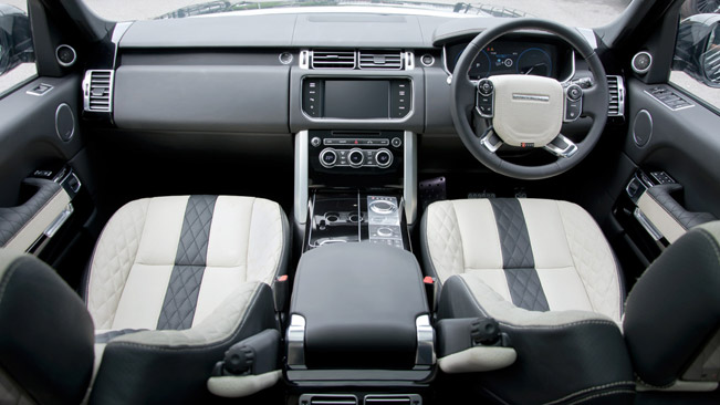 Kahn Makes New Ivory Black Interior For 2013 Range Rover Vogue