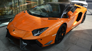 dmc shows tuned lamborghini aventador lp700-4 roadster sv