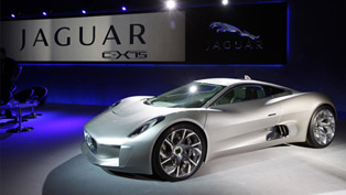 Jaguar C-X75 Prototype Hybrid Makes Lancaster Motor Show Debut