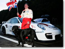 Mike Newman with Porsche 911 - Land Speed Record for Blind Driver