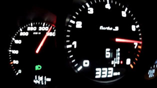 2014 Porsche 911 Turbo S - Top Speed 333 km/h [video]