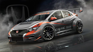 Honda Shows The First Render Of 2014 WTCC Civic Challenger
